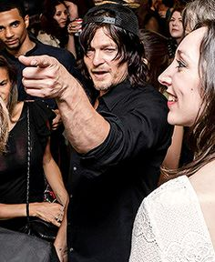 Norman Reedus attends the opening night of the 9 Lives group show at Castle Fitzjohns