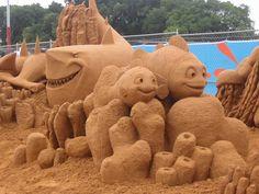 Mermaid Sand Sculptures | Look At This...: Disney Sand Sculptures