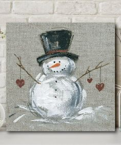 Courtside Market Winter Snowman II 16 X 1 5 Framed Wrapped Canvas Multi Christmas Wood, Christmas Signs, Christmas Projects, Primitive Christmas, Country Christmas, Painted Windows For Christmas, Father Christmas, Christmas Centerpieces, Christmas Decorations
