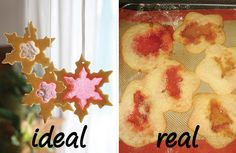 Stained glass window cookies are just stained cookies. #pinterestfail