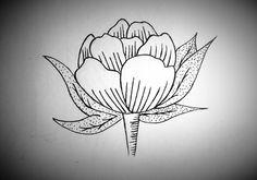 #Flowers #sketch #tattoo #peony #b&w #graphic