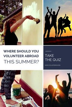 Interested in volunteering abroad this summer? This volunteer travel quiz is for you. Volunteer Overseas, After School, Travel Guides, Adventure Time, North America, Travelling, Globe, Places To Go, Bucket