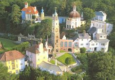 """Portmeirion, Wales - The Village from the 1960s TV series """"The Prisoner"""" (""""I am not a number!"""")"""
