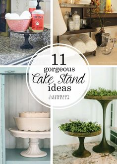 Not only are there an amazing array of cake stands available, but what you can do with them is endless. Check out these lovely cake stand ideas NOW!