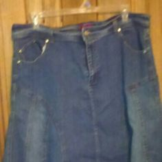 Blue jean skirt Flared blue jean skirt. Bottom is made to look frayed. Skirts A-Line or Full