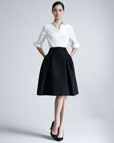 Women's Carolina Herrera Silk Faille Party Skirt by Carolina Herrera