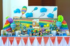 Dessert Table from a Oh the Places You'll Go Dr. Seuss Party via Kara's Party Ideas | KarasPartyIdeas.com (8)