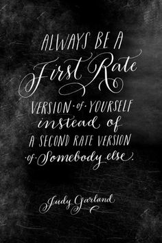 Always.  Copy cats are very transparent.  Proud to be an original me and not a second rate someone else.