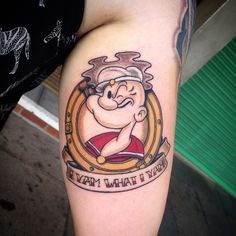 Popeye Tattoo by Sammy