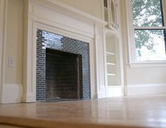 How to tile a brick fireplace