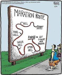 Modern marathon running enthusiasts may not necessarily know everything about marathon running's past, but one thing is for sure; any marathon runner is aware that the long-distance running event runs kilometers, or 26 miles, 385 yards, geared to. Sport Motivation, Fitness Motivation, Funny Motivation, Fitness Quotes, Funny Fitness, Fitness Humor, Daily Motivation, Fitness Workouts, Running Workouts