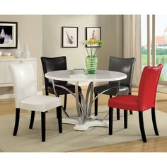 Furniture of America Relliza Contemporary High Gloss Lacquer 5-piece Dining Set