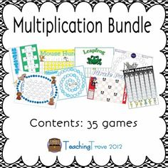 Number and Algebra, Multiplication/Division - 35 multiplication games are included in this pack.   $10.95 Download  Source: http://www.teacherspayteachers.com/Product/Multiplication-Game-Pack-35-games-1031771