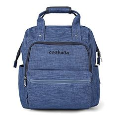 Coaballa MultiFunction Travel Baby Diaper Bag Backpack Organizer with Stroller Straps  3 Insulated Pockets for Men and Women  Extra LargeDenim Blue ** You can get additional details at the image link.-It is an affiliate link to Amazon.