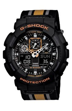 G-Shock 'XL Ana-Digi' Nylon Strap Watch, 55mm | Nordstrom