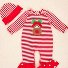 Peaches 'N Cream Girs Red Nose Holiday from Freckles Children's Boutique for $59.00