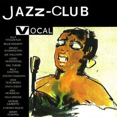 1989 Jazz-Club: Vocal [Verve 840029-1] cover painting by Alice Choné #albumcover