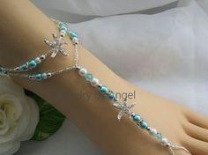 Étoile de mer bleue turquoise Bijoux mariage Starfish nu-pieds sandale Starfish…