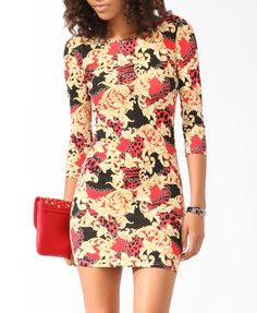 Scarf Print Bodycon Dress | FOREVER21 - 2021840072