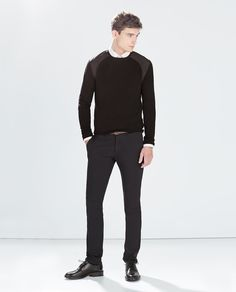 ZARA - MAN - PLAIN TROUSERS WITH BELT