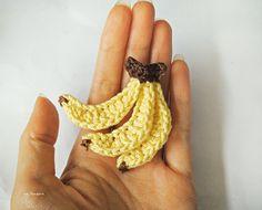ice pandora: DIY: Crochet banana. ❉CQ #crochet #applique