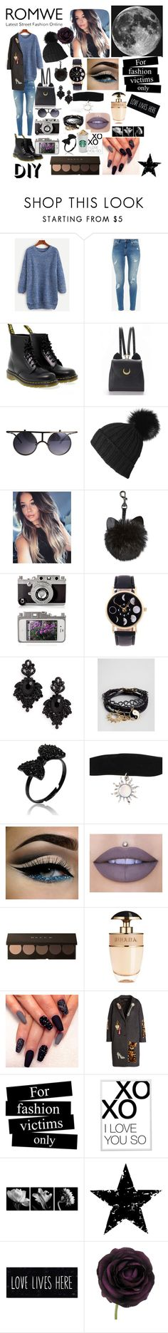 """""""The dreams come true!🌙🌠🌠🌛🌟☄😙"""" by miruna1-1 ❤ liked on Polyvore featuring Ted Baker, Dr. Martens, Black, Tasha, ASOS, Jeffree Star, Prada, Dolce&Gabbana, xO Design and Tim Holtz"""