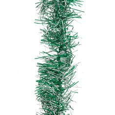 Green and Silver Thin Sparkly Tinsel – 3.65m | Partyrama.co.uk