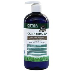 Deter Natural Outdoor Soap 12oz Family Size Pump Bottle -- Learn more by visiting the image link.