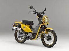 Another - this was unveiled this year Honda Cub, Mini Motorbike, Motorcycle Bike, Honda Motors, Honda Bikes, Retro Scooter, Honda Ruckus, Motor Scooters, Moto Bike
