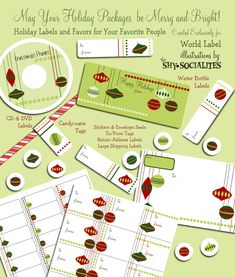 Free printable Christmas ornament labels.
