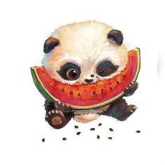 Scrapbooking, needlework & # s photos- Cute Panda Drawing, Cute Animal Drawings, Cute Drawings, Panda Wallpapers, Cute Wallpapers, Baby Animals, Cute Animals, Panda Painting, Cute Panda Wallpaper