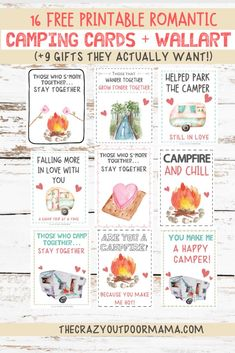 9 Most Romantic Camping Gifts + 19 FREE Camping Valentine Printables! – The Crazy Outdoor Mama - 9 Most Romantic Camping Gifts + 19 FREE Camping Valentine Printables! Camping Bingo, Camping Cards, Camping Gifts, Camping Activities, Diy Camping, Camping Recipes, Camping Ideas, Romantic Camping, Kids Checklist