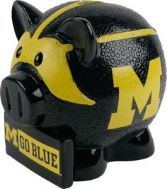 Michigan Wolverines Thematic Piggy Bank
