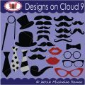 Designs on Cloud 9 Mustache Party SVG and cutting files