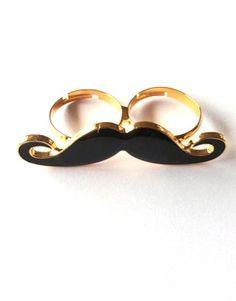 Movember Style | moustache fashion | moustache ring