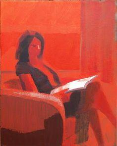 Reading and Art: Jamie Chase, Sasha with orange