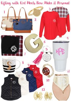 The Monogrammed Life: GIFTING WITH GIRL MEETS BOW: MAKE IT PERSONAL