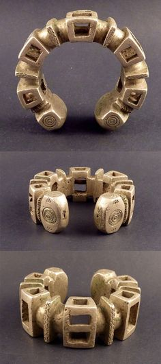 Africa | Bracelet from the Tuareg people; solid cast metal (lost wax method) | ca. 2nd half of the 20th century | 165€