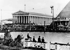 Parthenon is visible on the left in this photo taken at the Worlds Fair in Nashville, TN 1897