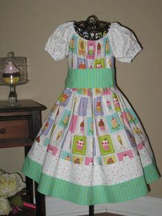 A Cupcake A Day  Peasant Dress by OSoDarling on Etsy, $40.00
