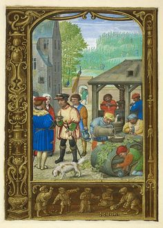 Simon Bening. From The Golf Book of Hours, October. About 1540.