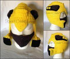Transformers crochet hats