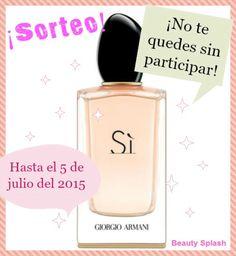 Beauty Splash: Sorteo Eau De Parfum Sì de Armani 100 ml