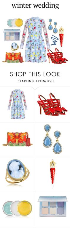 """The Wedding Fun!!!"" by mrudula-26 ❤ liked on Polyvore featuring Erdem, Laurence Dacade, Valentino, INC International Concepts, Del Gatto, Christian Louboutin, Clinique, Anastasia Beverly Hills and Christian Dior"