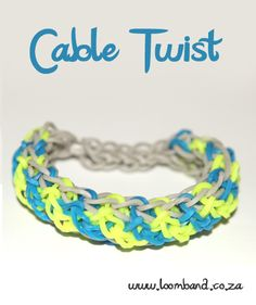 Cable twist loom band bracelet tutorial, instructions and videos on hundreds of loom band designs. Shop online for all your looming supplies, delivery anywhere in SA.