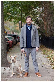 wool jacket (and dog)