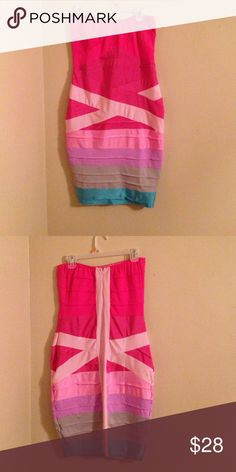Bodycon party dress Worn once colors: hot pink, powder pink, lavender purple, grey and light blue Dresses Mini
