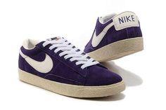 Acheter Nike Blazer Femmes Suede VT Rose Bourgogne