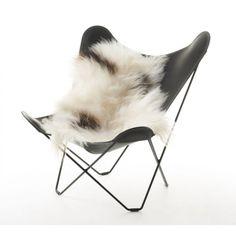 Black and White Spotted Icelandic Sheepskin- Long Hair   Urban Couture - Designer Homewares & Furniture Online