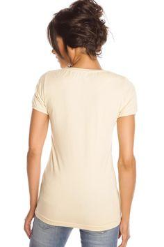 T-shirt femme T-FLOWERS et JAUNE Jaune